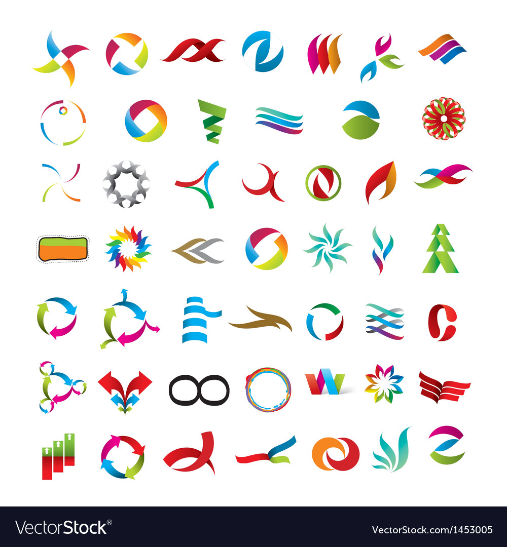 Universal collection of abstract icons Vector Image