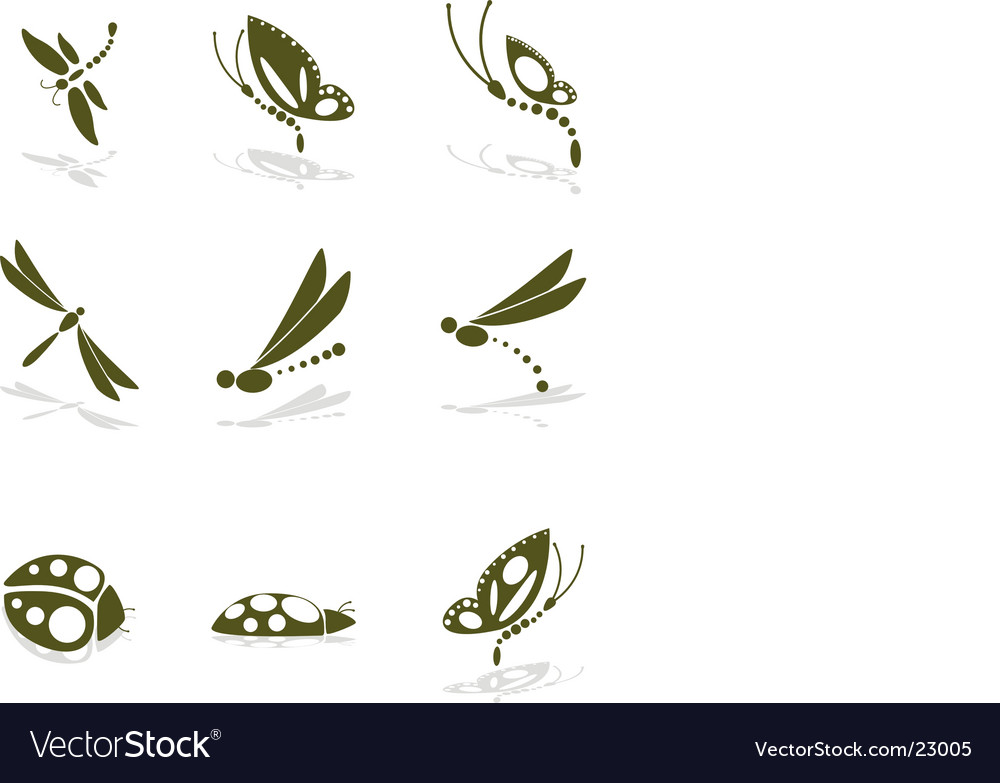 Bug icons vector image