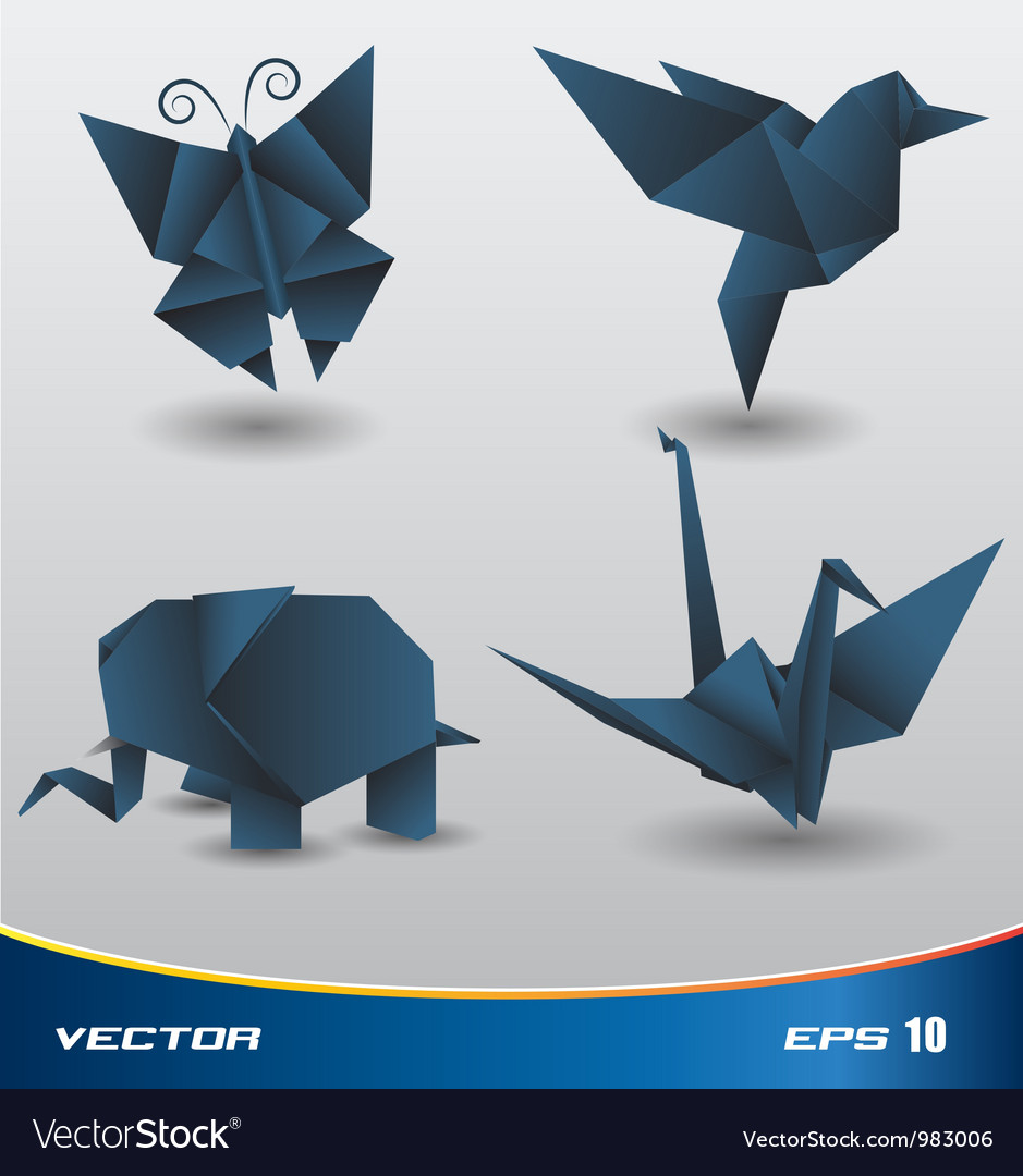 Origami paper vector image