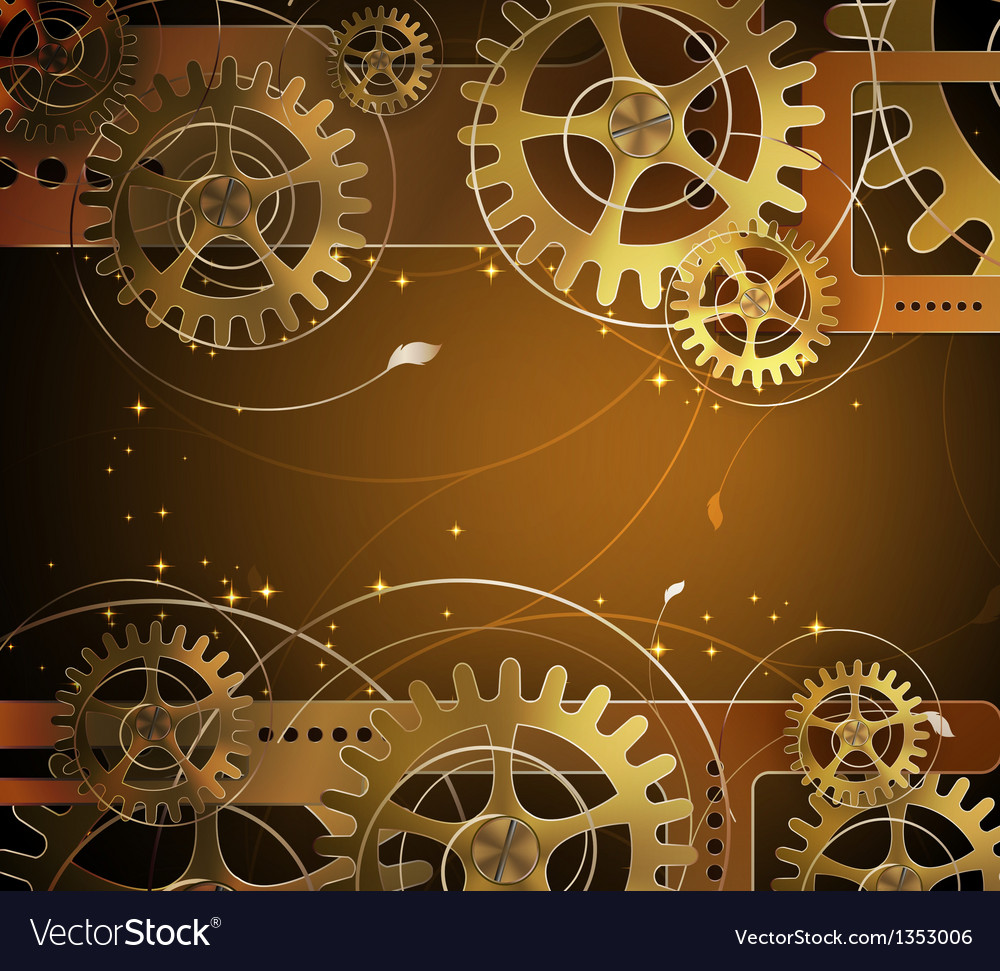 Abstract mechanical background vector image