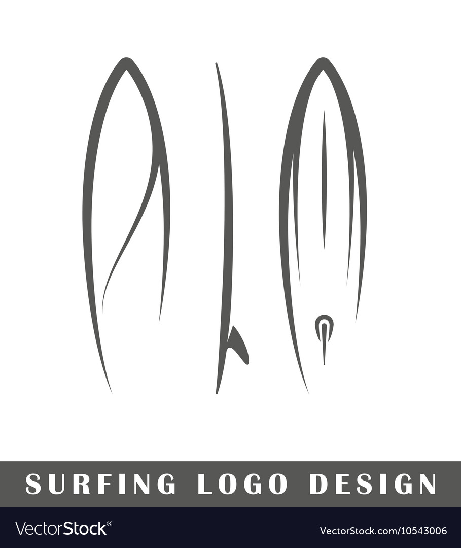 Surfing logo design vector image