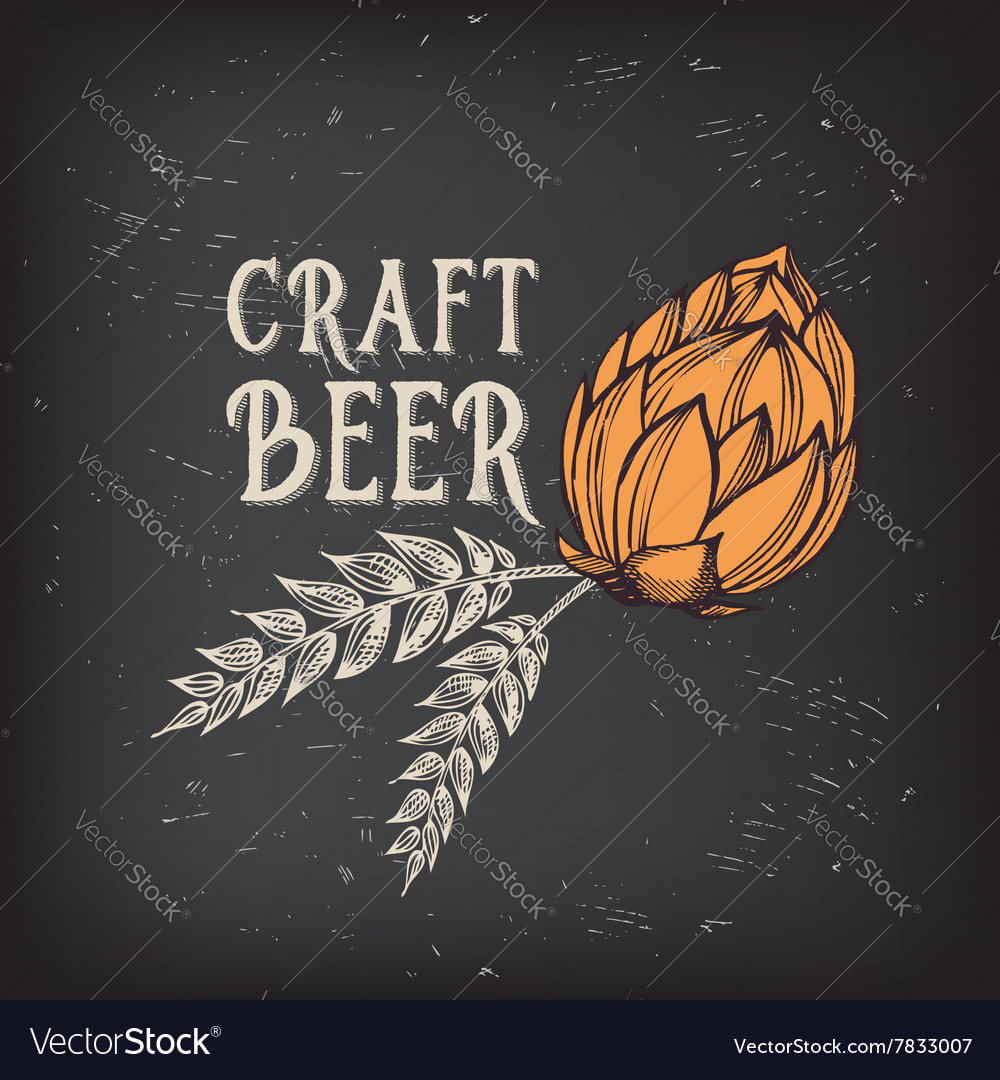 Beer restaurant cafe menu template design vector image
