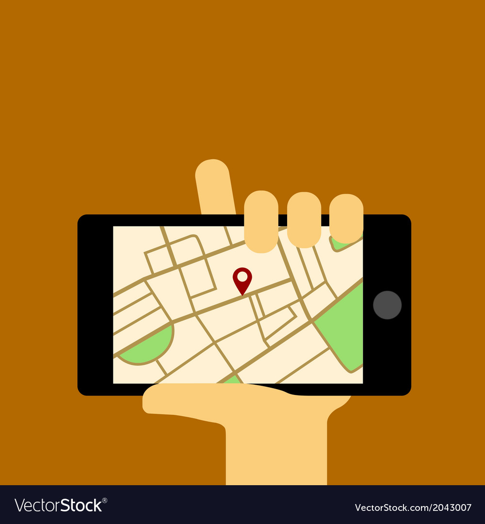 Mobile map vector image