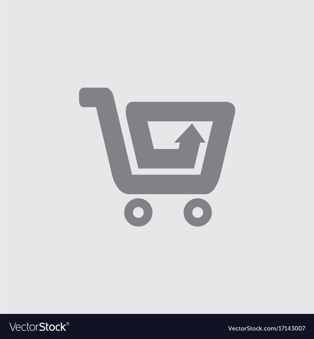 Shopping cart arrow logo vector image