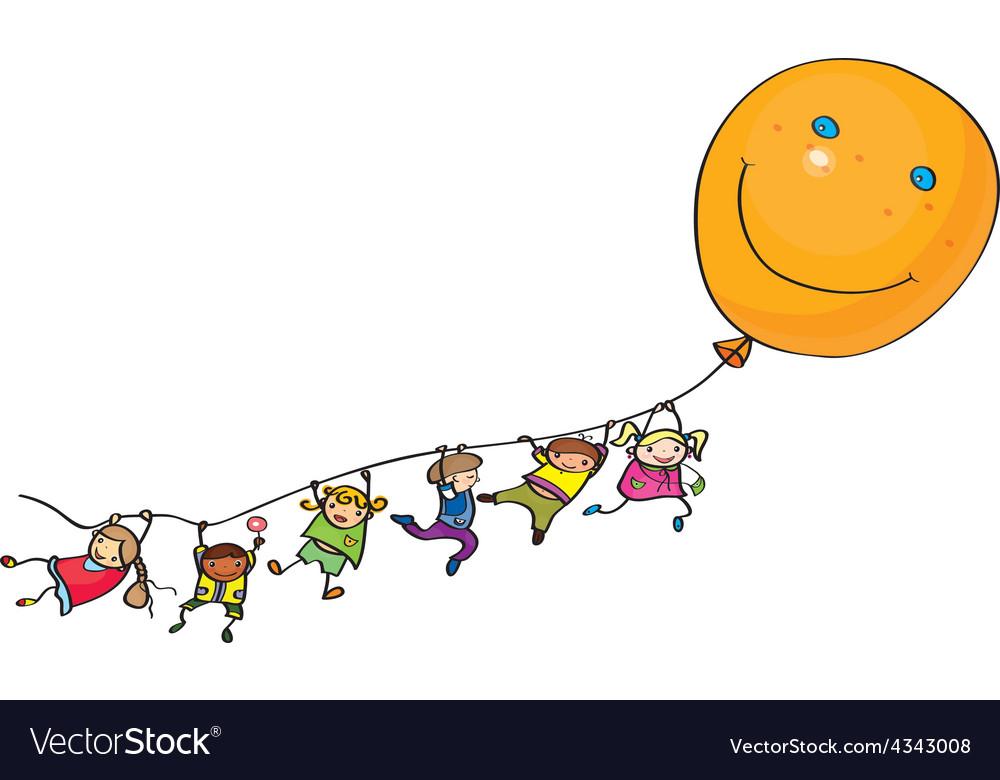 Kids balloon vector image
