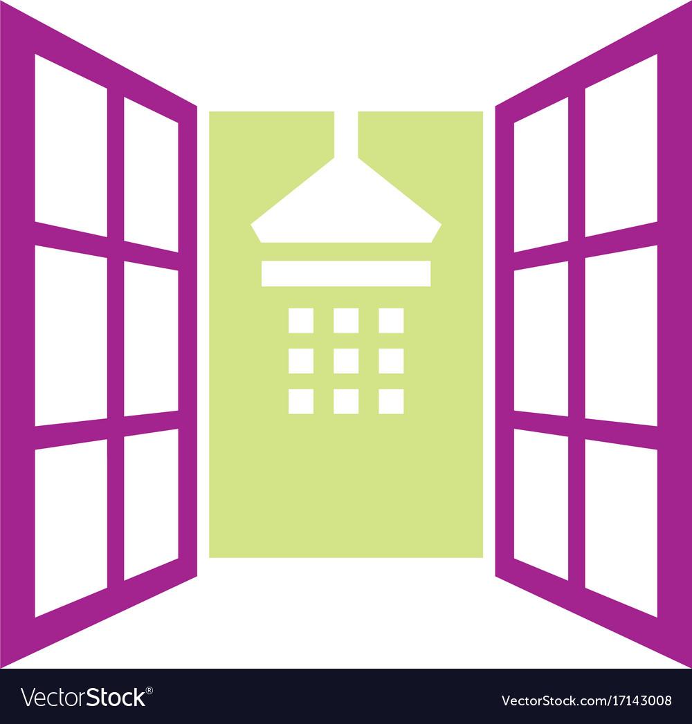 Shower bathroom interior logo vector image