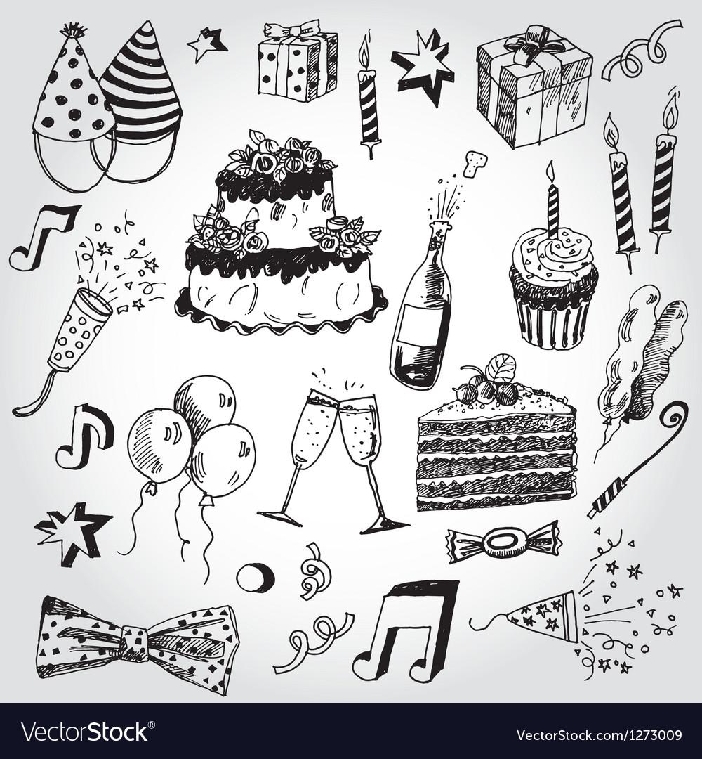 Celebration Stuff vector image