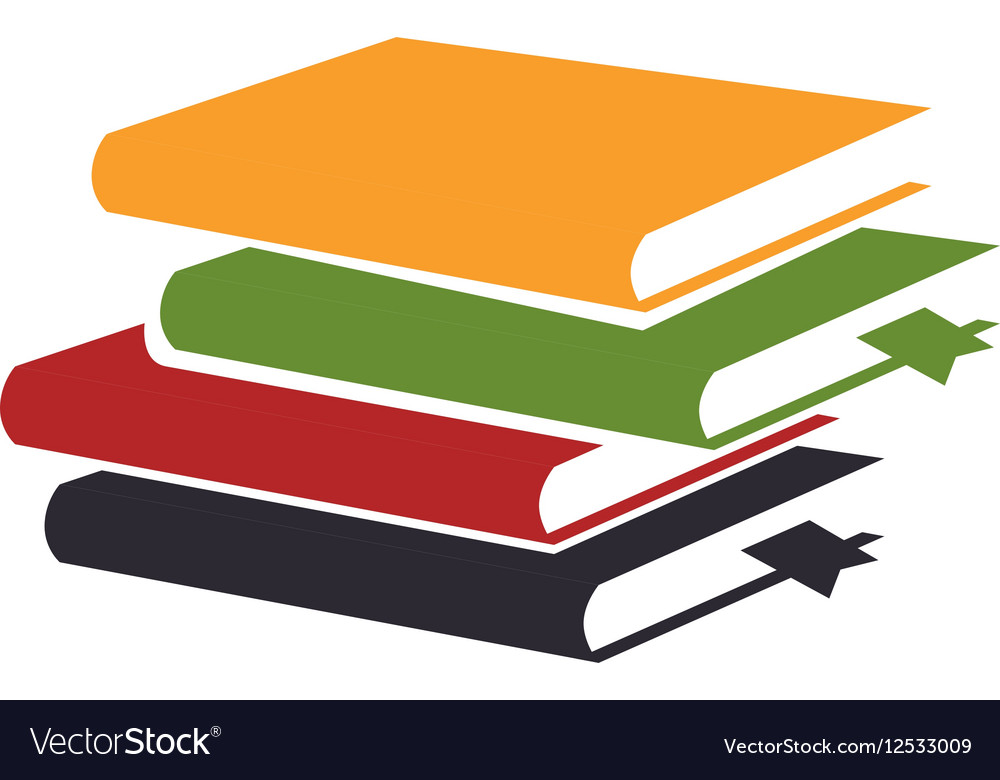 Books library isolated icon vector image