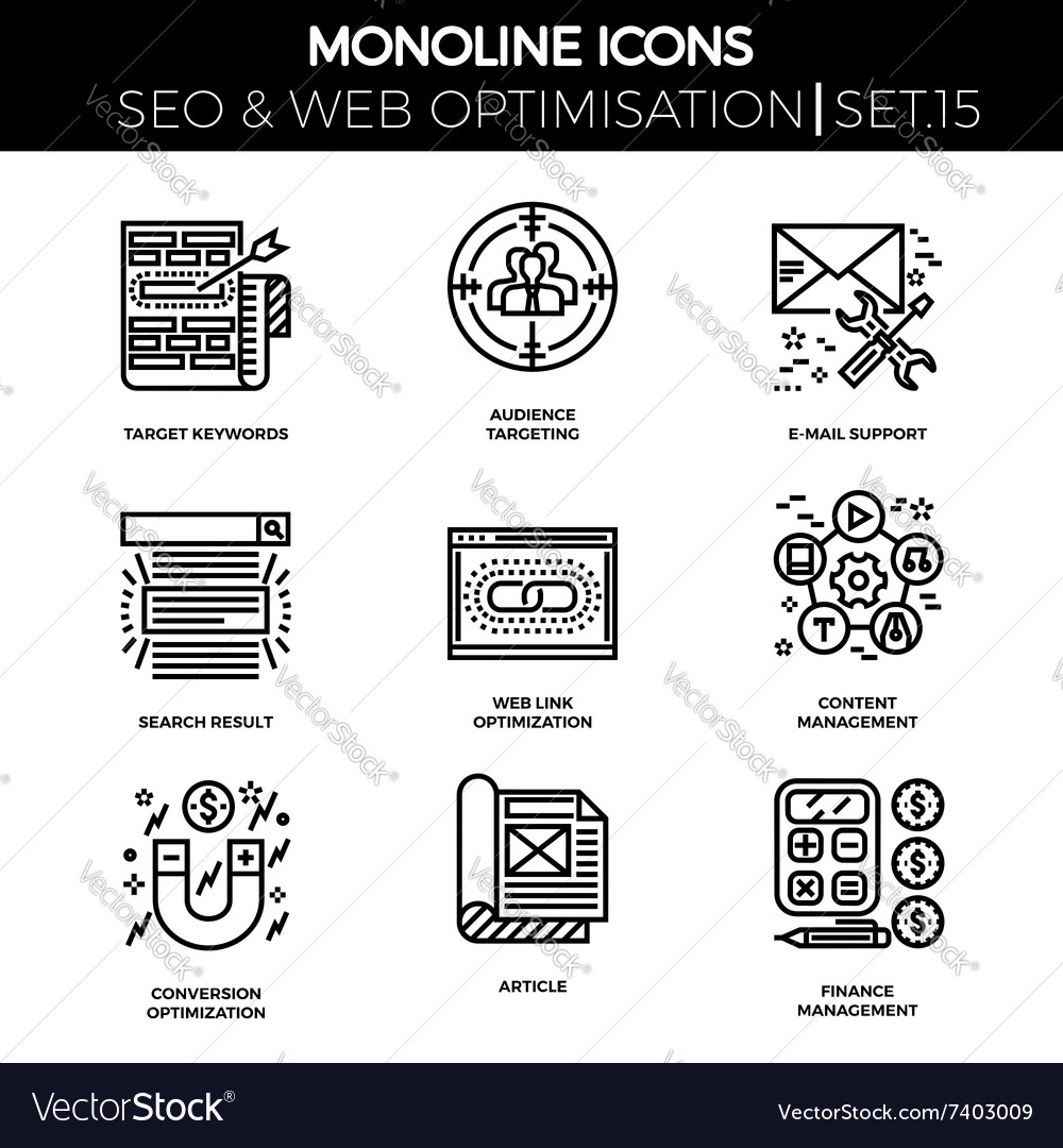 Seo and web opimization vector image