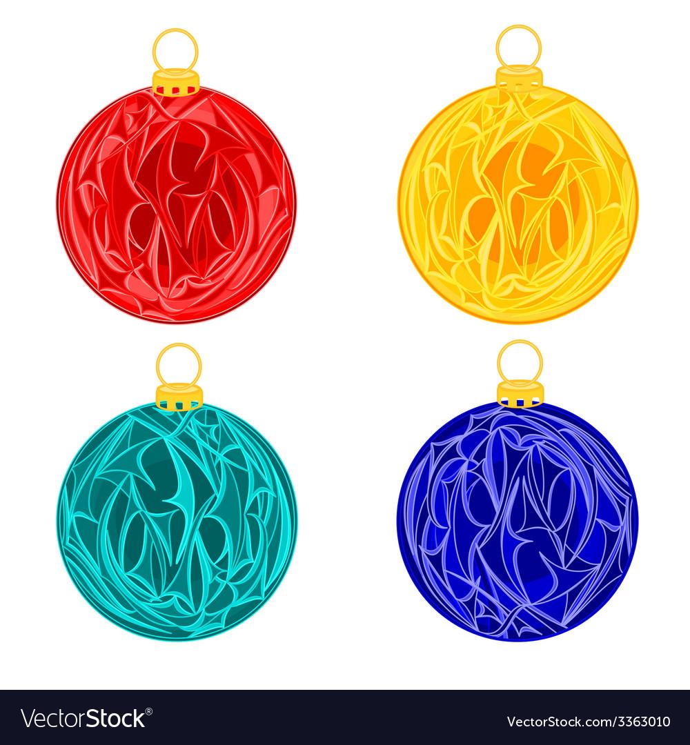 Christmas baubles balls christmas trimmings vector image