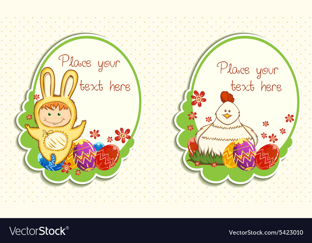 easter frames vector image - Easter Photo Frames