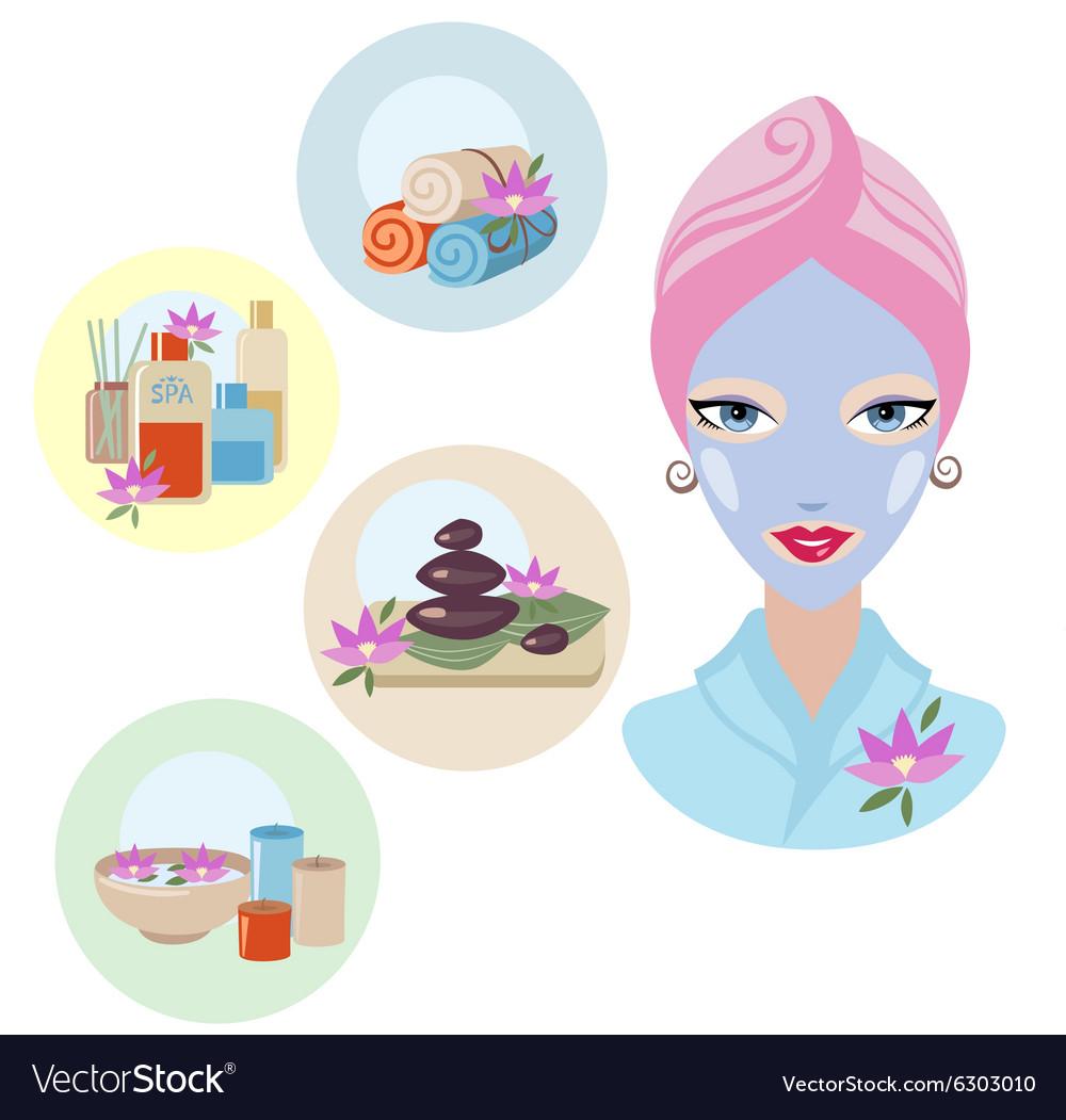 Girl at spa treatment vector image