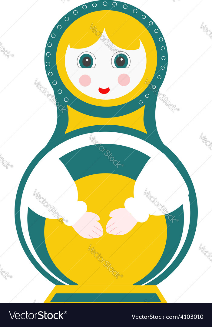 Russian doll - matryoshka vector image