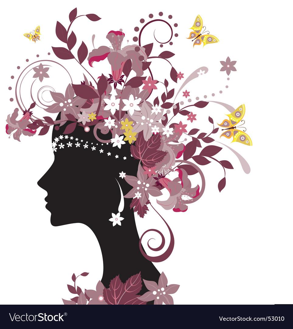 Summer woman vector image
