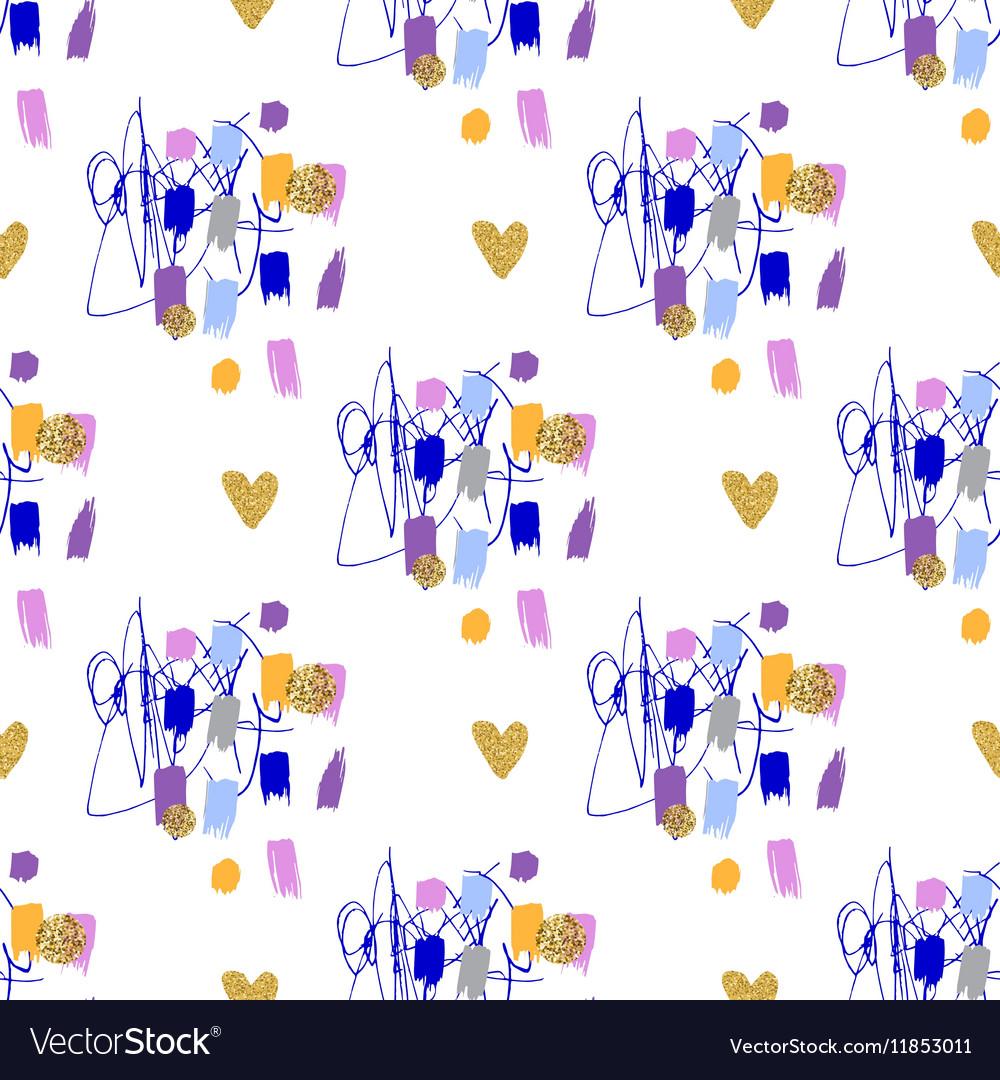 Trendy fashion geometric seamless pattern Modern vector image