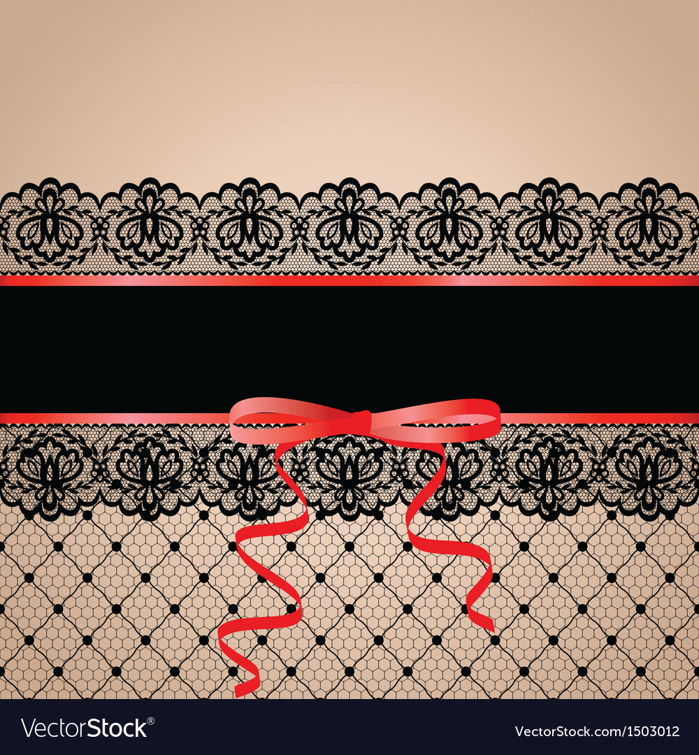 Black garter and stocking vector image