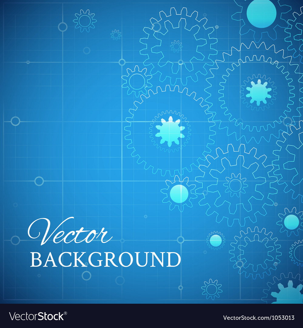 Weels over the blueprint vector image