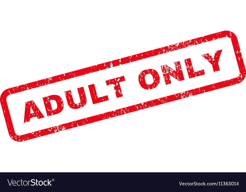 Adult Only Text Rubber Stamp vector image