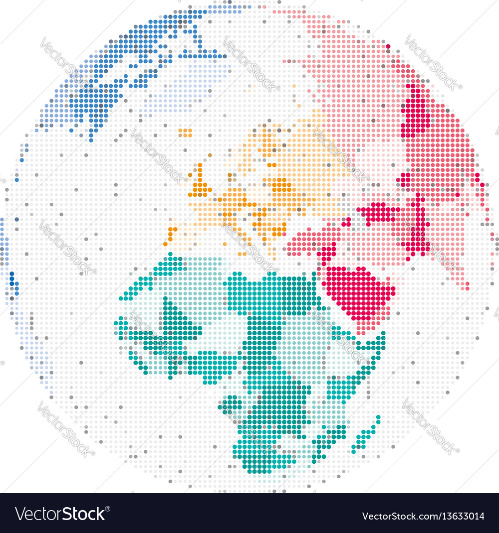 Map of europe and africa vector image