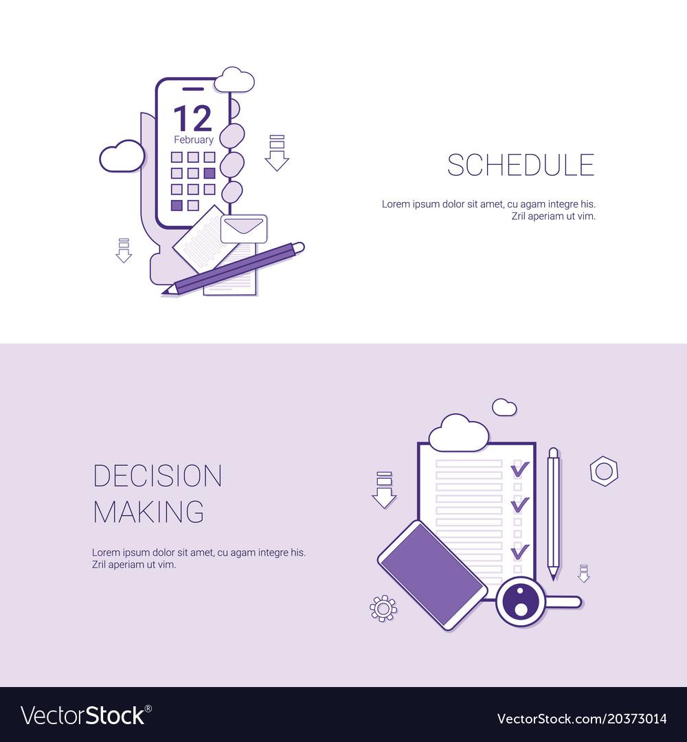schedule making template