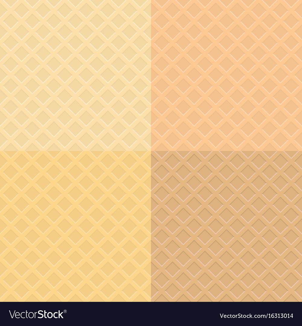 Waffle pattern background vector image