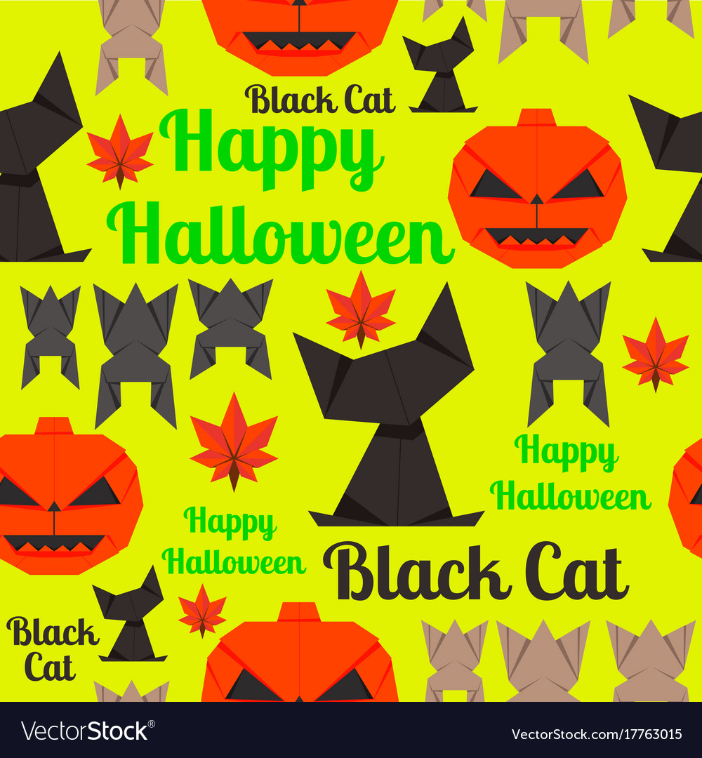 Seamless texture for wrapping at halloween vector image