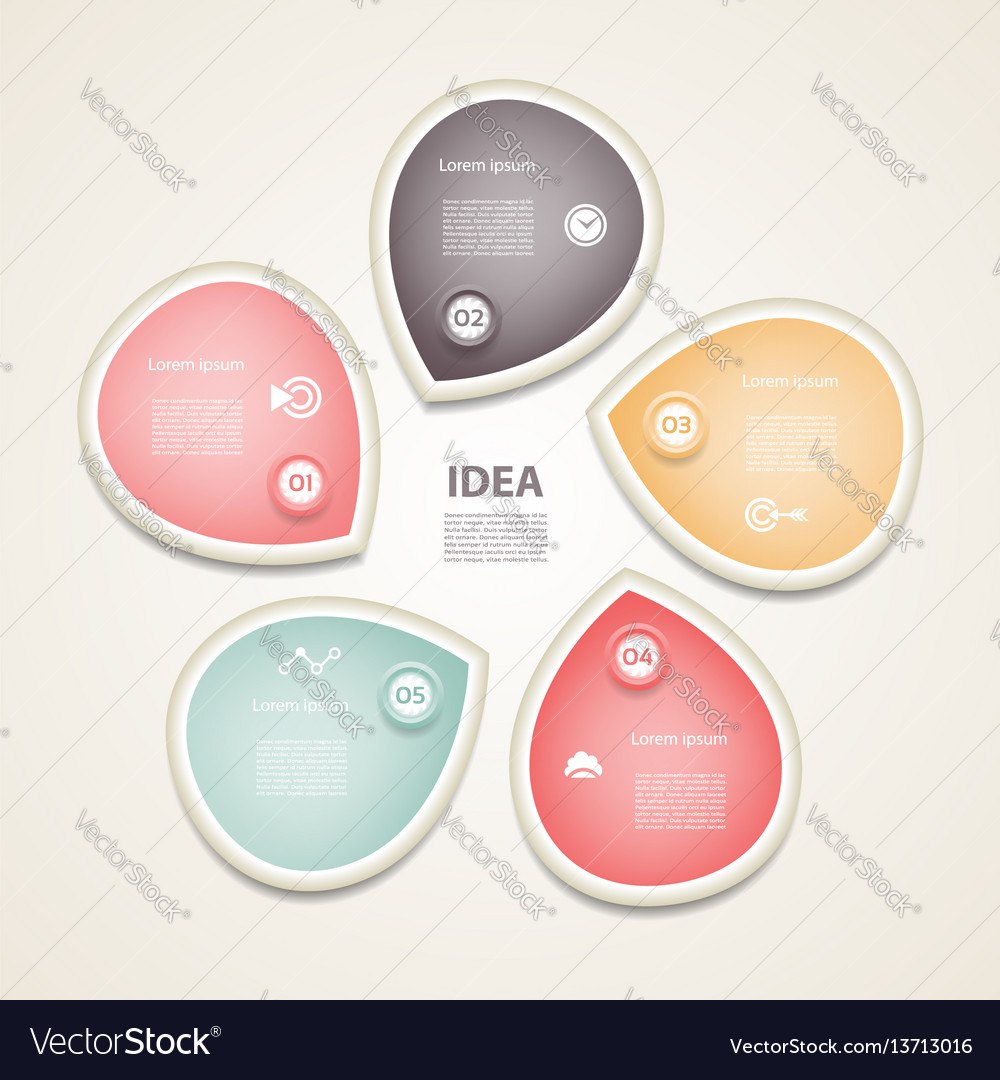 Circle arrows infographic vector image