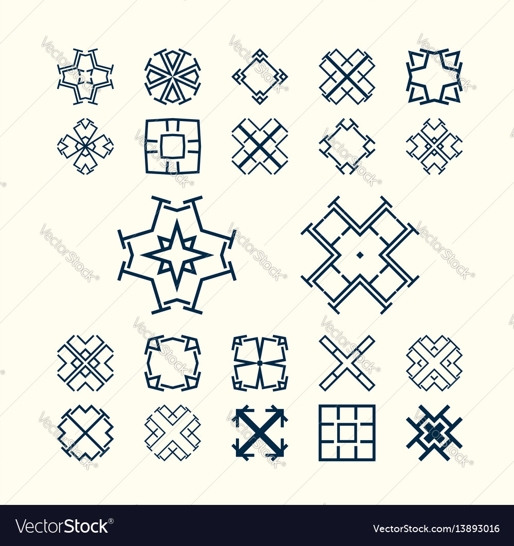 Collection of minimal emblem simple abstract vector image