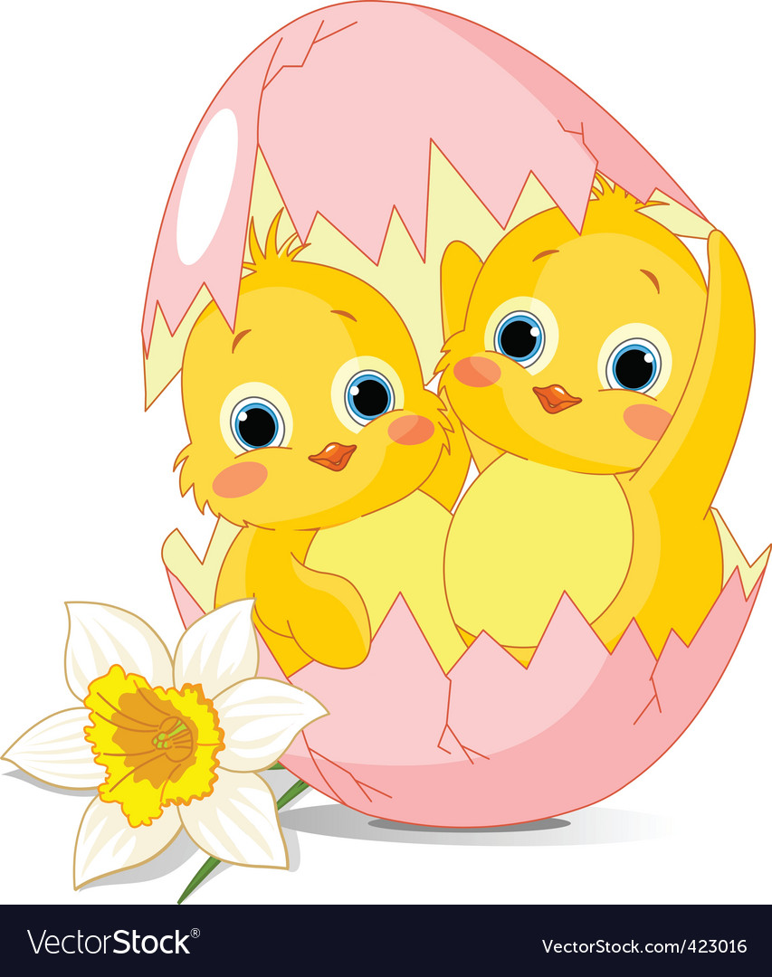 Easter cartoon vector image