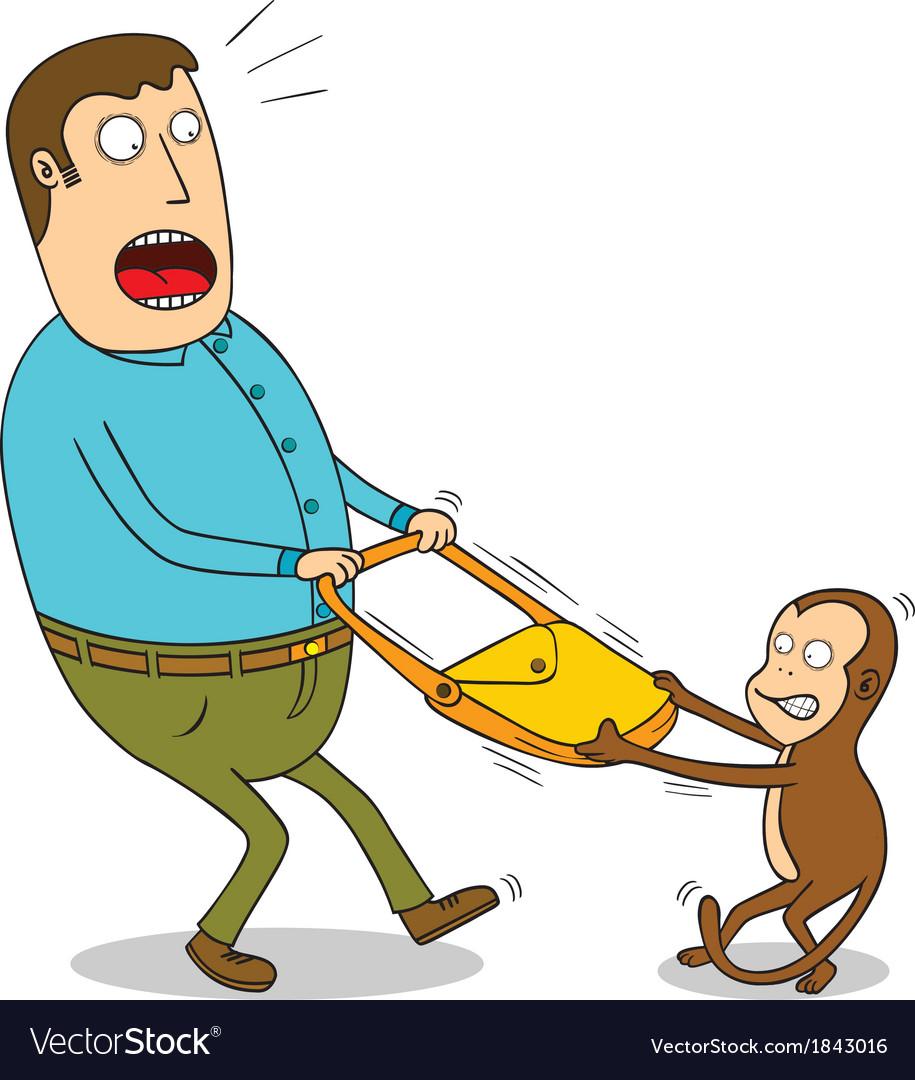 Naughty monkey vector image