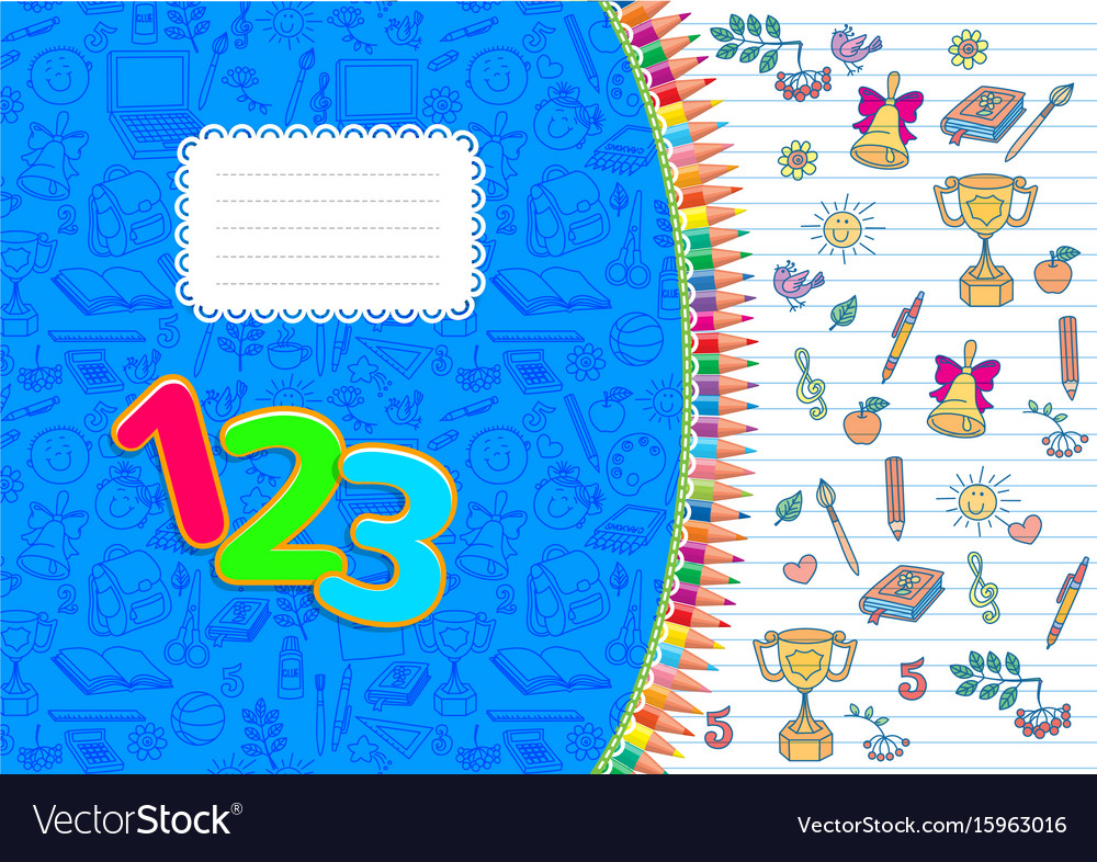 School notebook horizontal striped a4 vector image