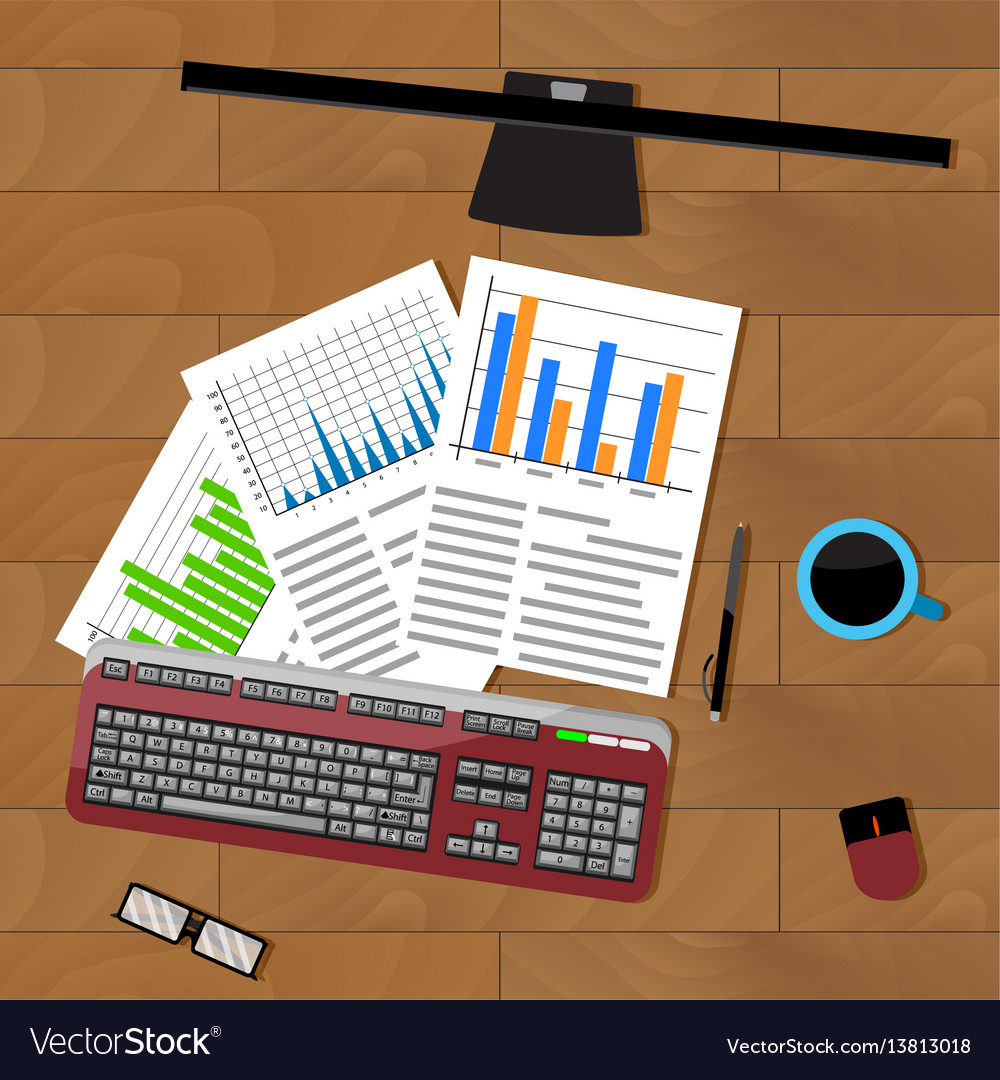 Analysis of statistics vector image
