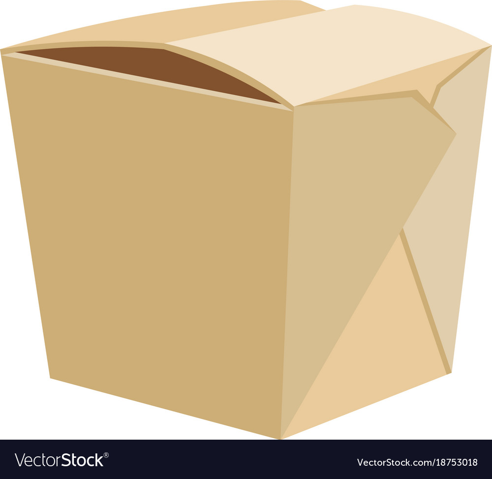 Chinese restaurant take-out box vector image