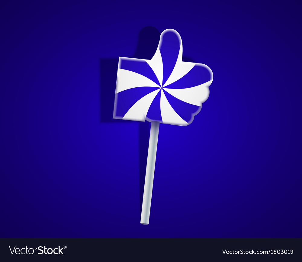 Lollipop like on blue background Eps10 vector image