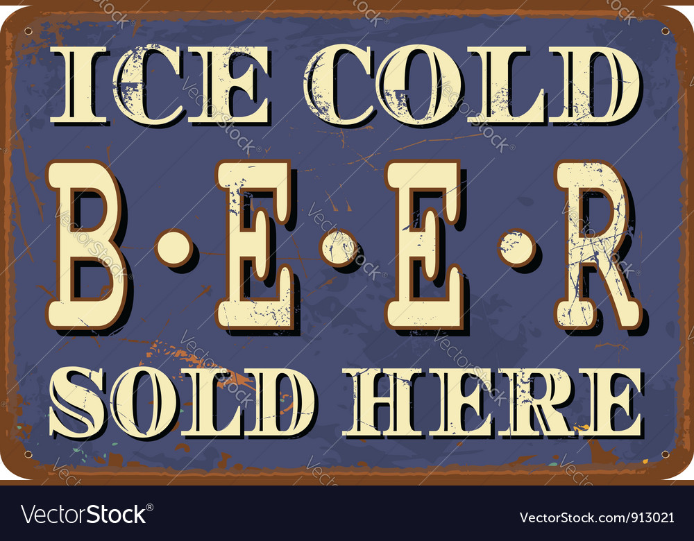 Vintage metal sign vector image