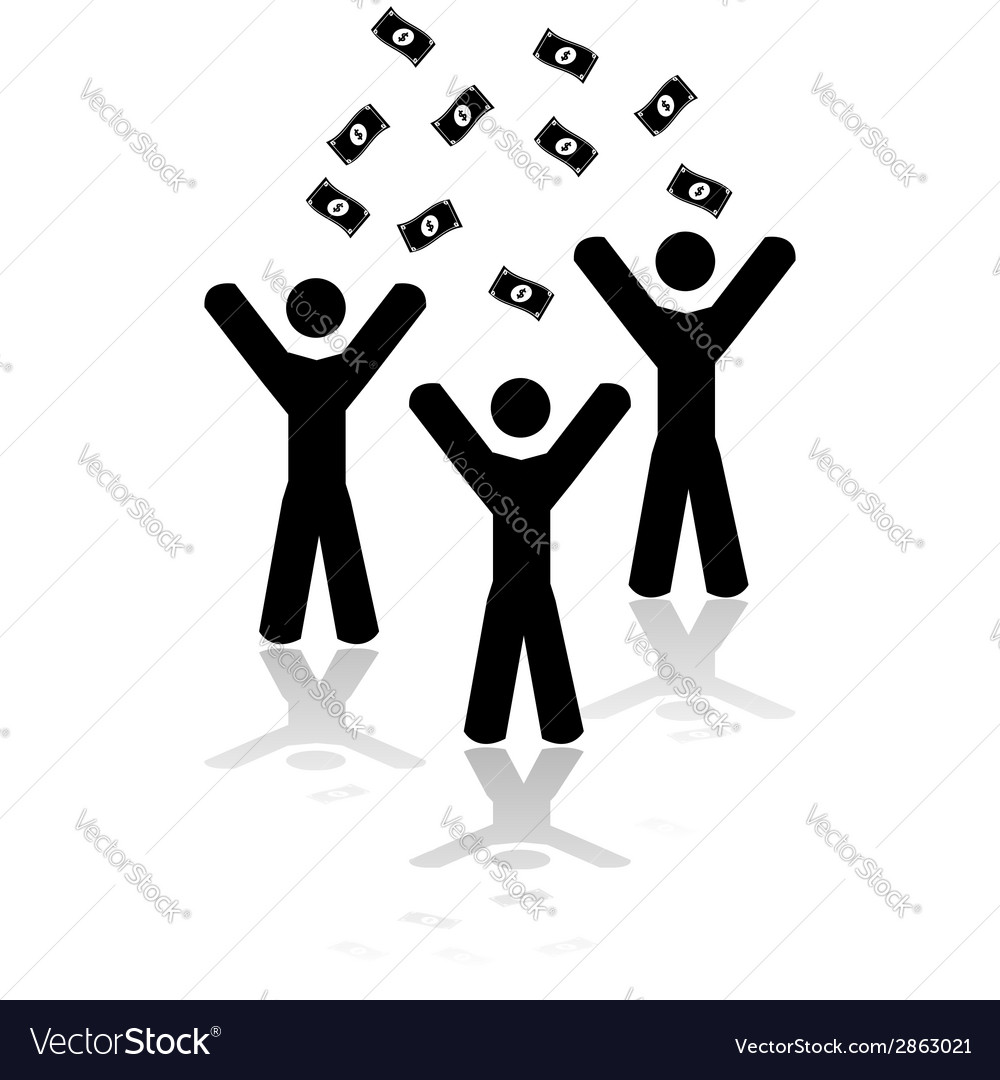 Money falling from the sky vector image