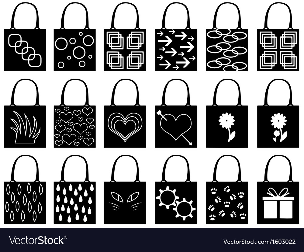 Shopping bag silhouette Royalty Free Vector Image
