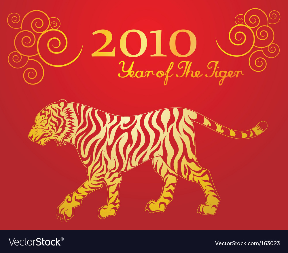 Year of the tiger vector image