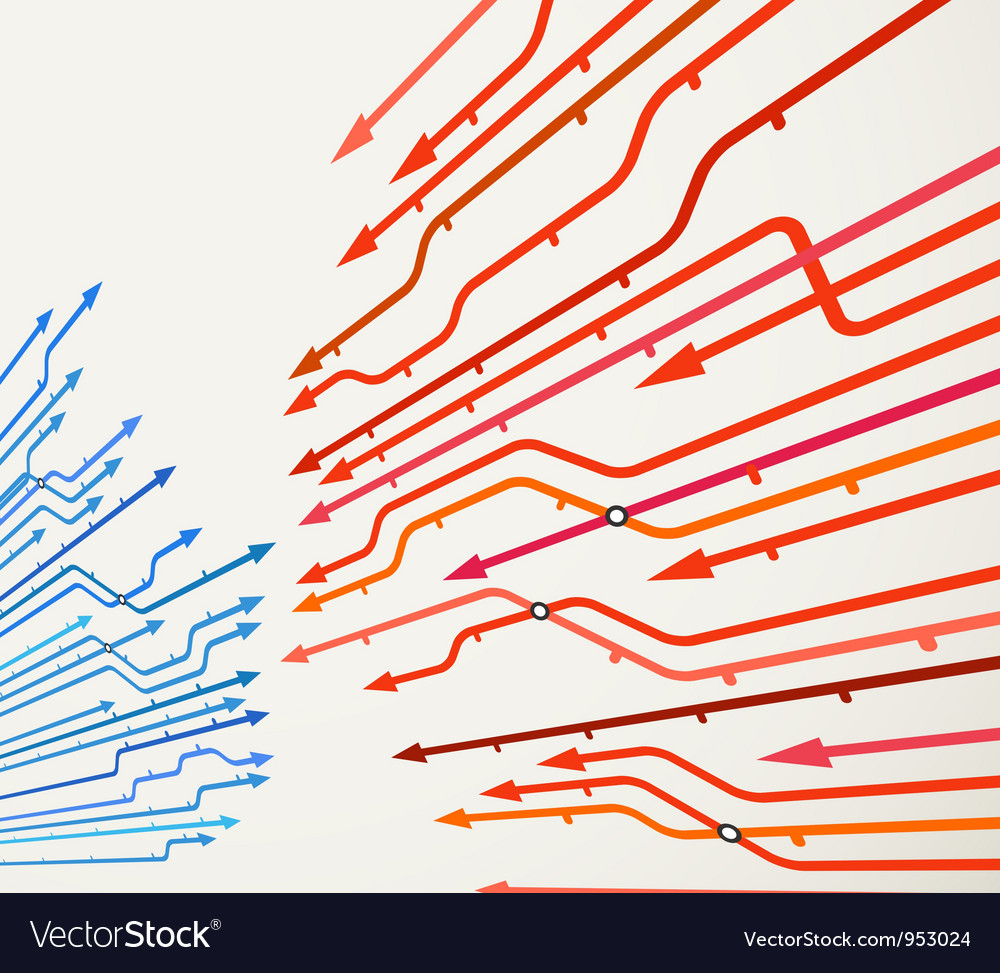 Abstract background of metro lines vector image