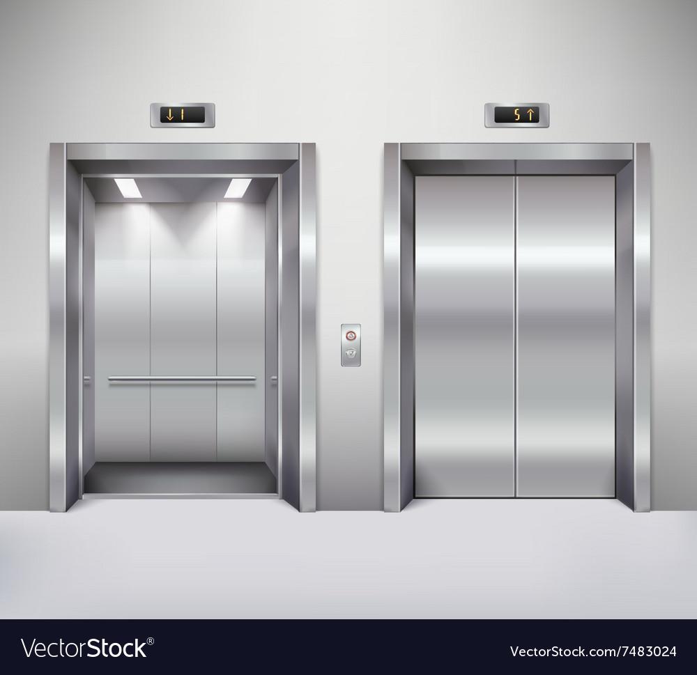 Elevator door vector image & Elevator door Royalty Free Vector Image - VectorStock