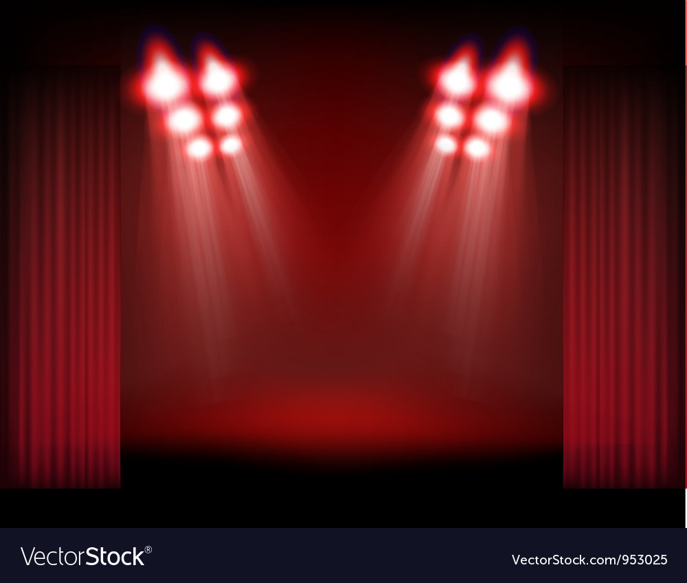 Spots and stage vector image