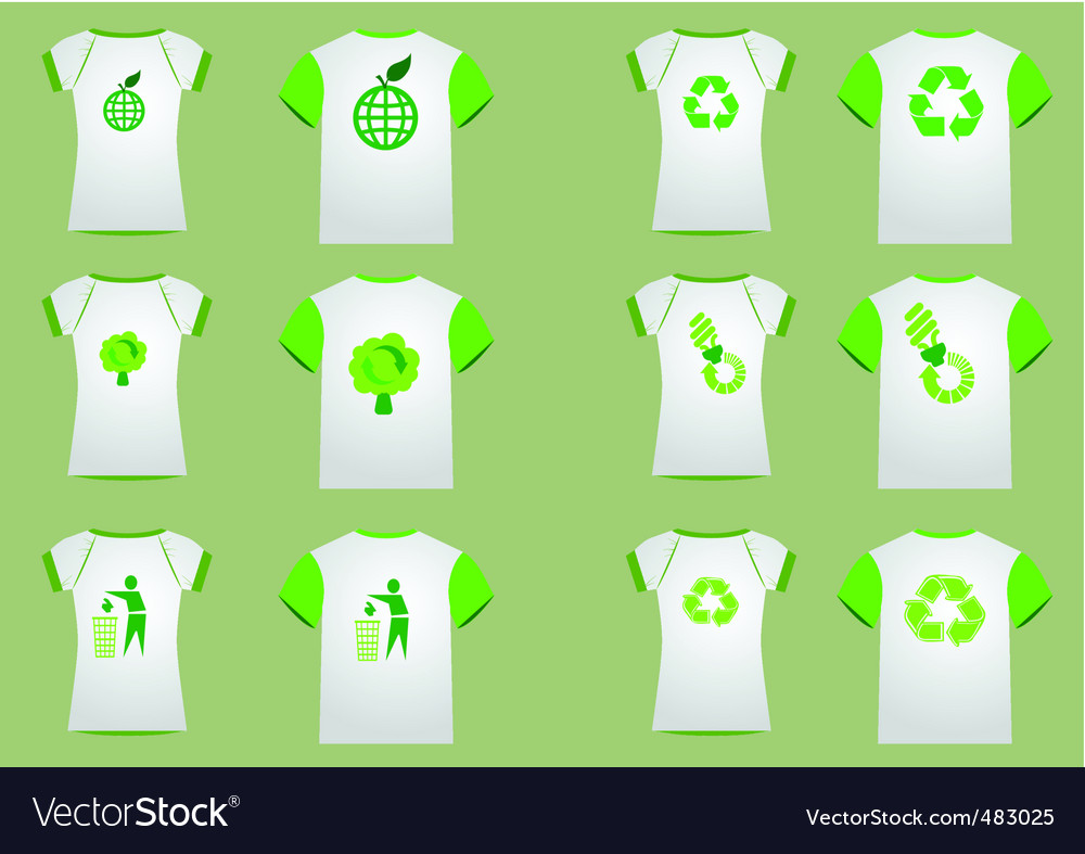 T-shirt recycler women men vector image