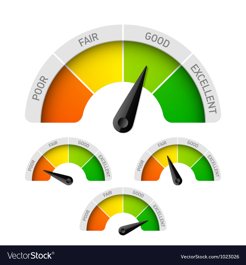 Rating meter vector image