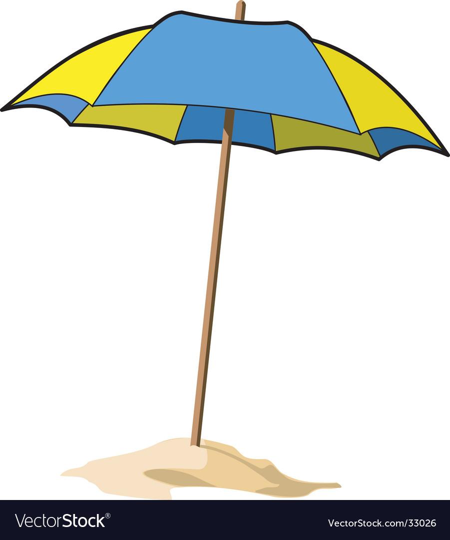 beach umbrella. Beach Umbrella Vector Image R