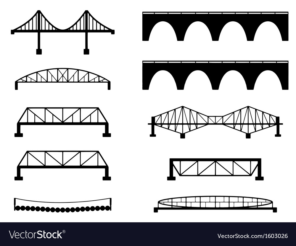 Bridge vector image