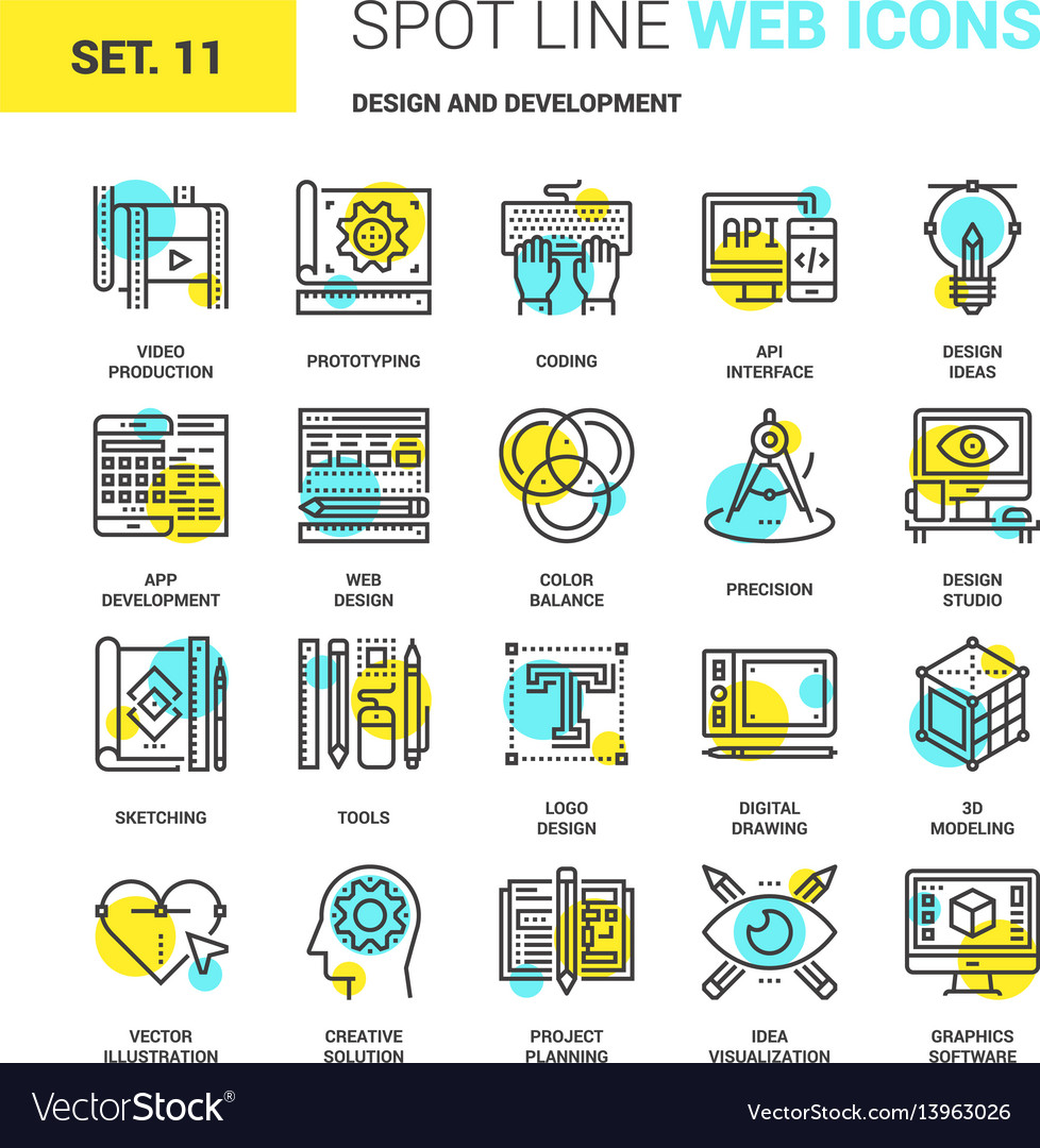 Deisgn and development vector image