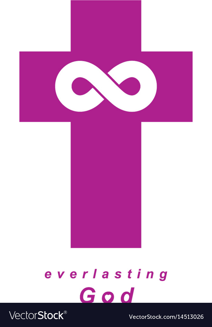 Everlasting god creative symbol design combined vector image