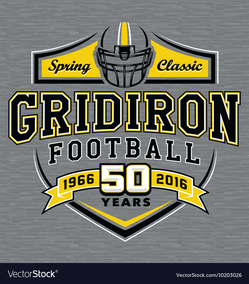 Gridiron football t-shirt graphic design vector image