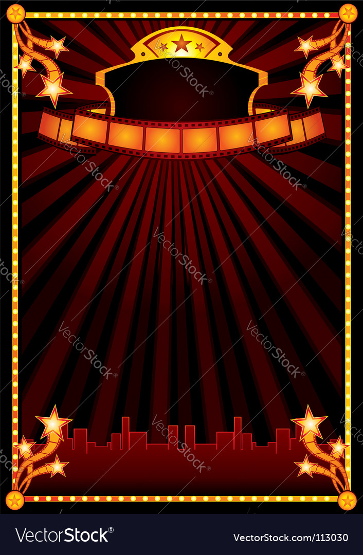 Cinema announcement vector image