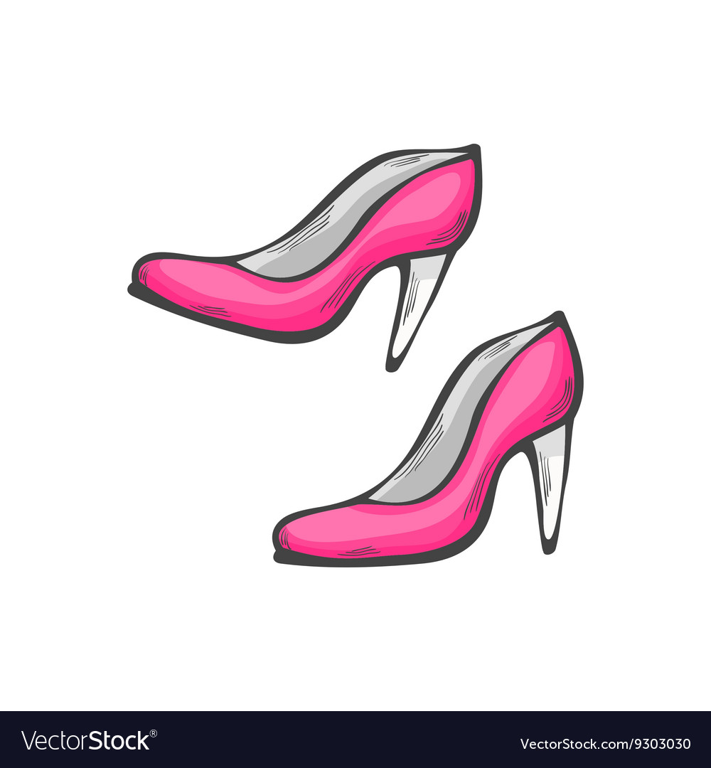 Female shoes icon vector image